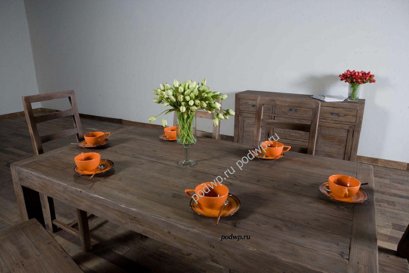 большой деревянный обеденный стол Parsons Dining Table