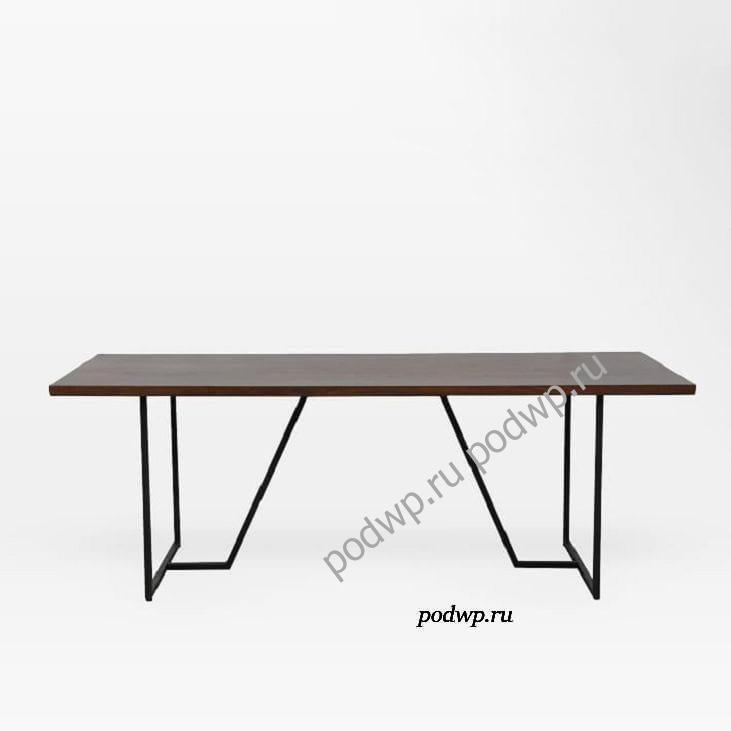стол на металлокаркасе для кухни Geometric Base Dining Table