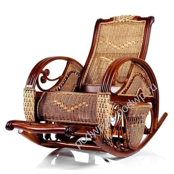 Кресла-качалки плетеные