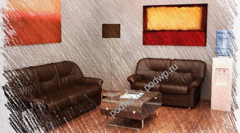 Нужен ли для офиса кожаный диван?